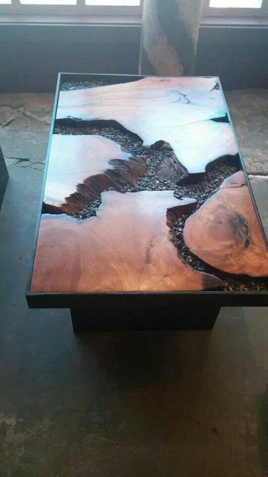 Amazing rustic wood table.