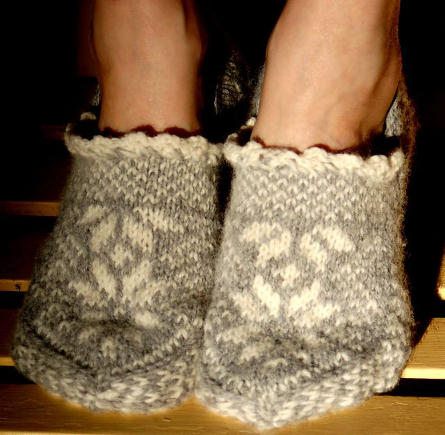 Hand knit Norwegian slippers- these would be yummy and warm.  I need!