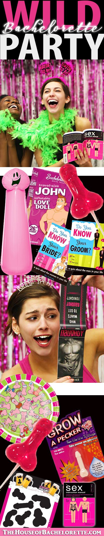 Throw a wild Bachelorette Party the Bride will NEVER FORGET :)