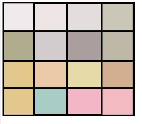 самые светлые цвета палитры – белье, летняя одежда