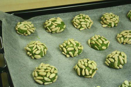 Biscotti al tè verde macha
