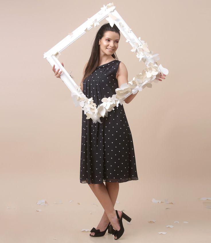 Have fun with polka dotts dress! spring17 | YOKKO #polkadotts #dress #party #fun #dance #spring17 #fashion #yokko