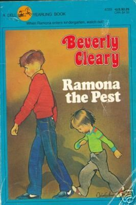 Loved all these books!!! Ramona #2. The engaging tale of young Ramona Quimby's first days in kindergarten, Ramona the Pest takes a pint-sized perspective on the trials and delights of beginning school--goodreads. As wonderful as the rest of the series--get a copy with the original illustrations!