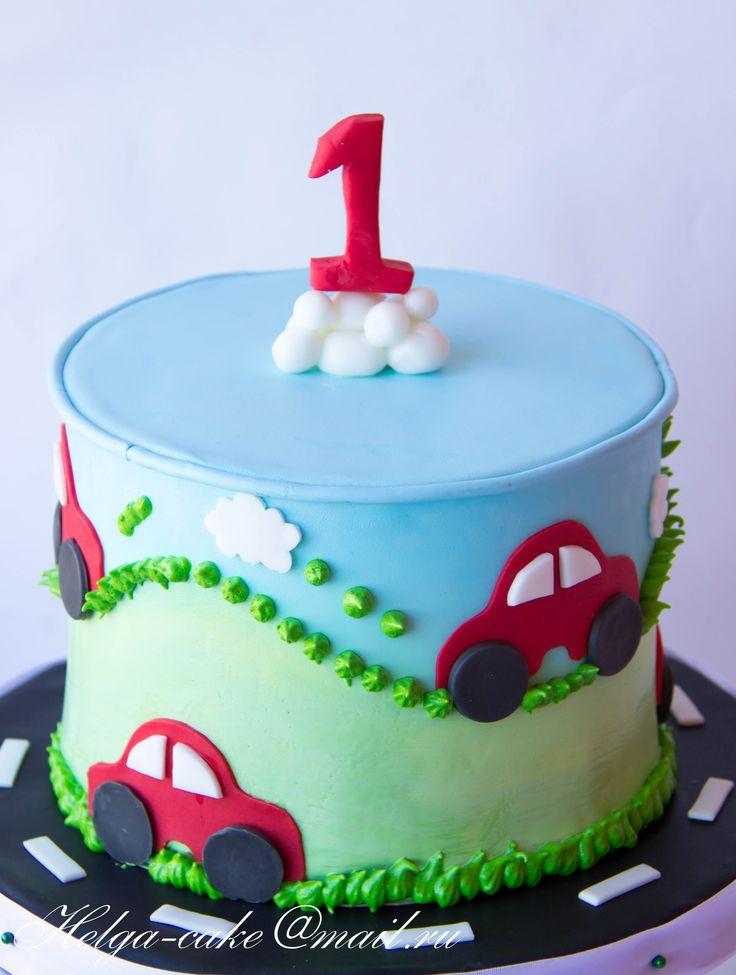 Детский на годовасие Детский торт с машинками