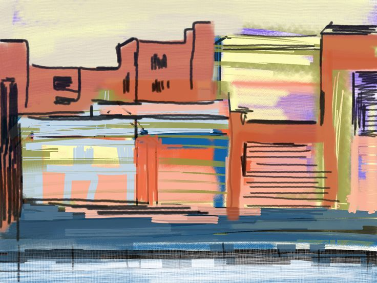 In The City - Sketching on Ipad