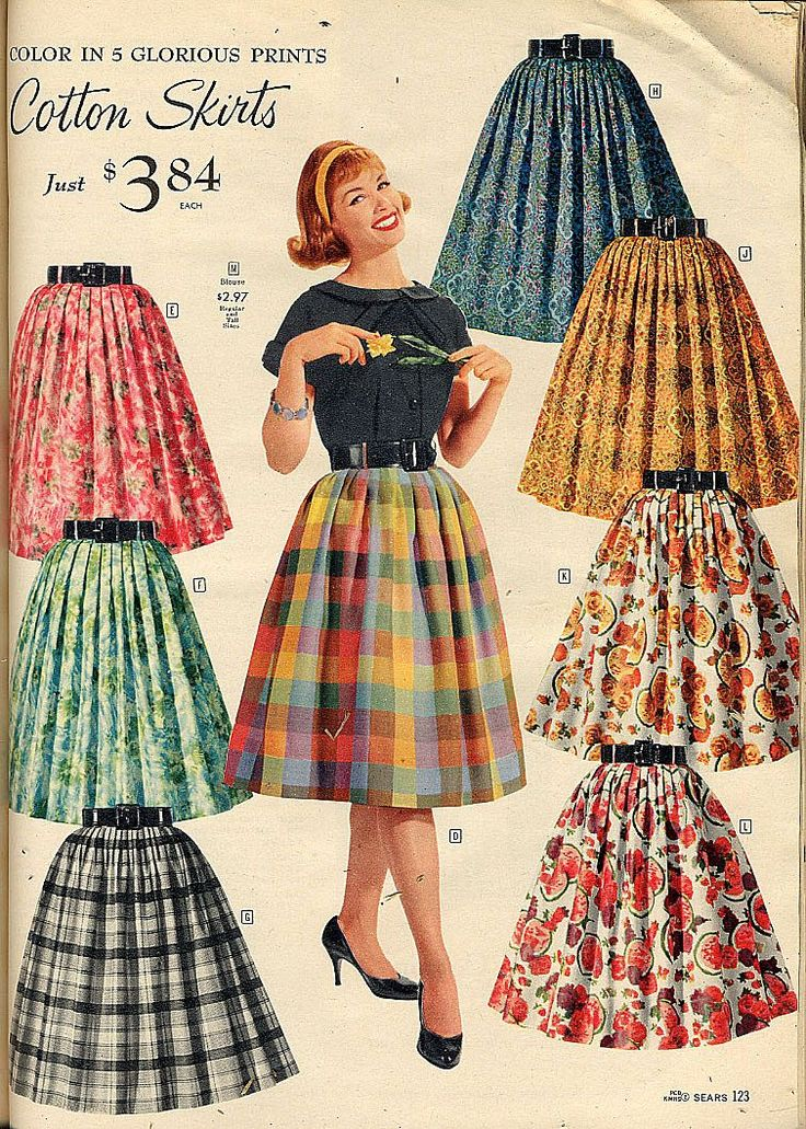 Fashion Through The Decades  Had a skirt in jr. high just like it!