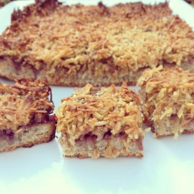Raspberry Coconut slice - I miss this so much!