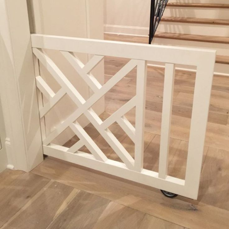 """""""Pretty is nice, but first, it has to work. Here is a better angle to show how the custom pocket doggy/baby gate functions. 
