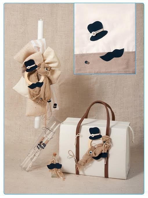 Greek Wedding Shop - Top Hat and Mo Boy's Christening Set, Request Quote (http://www.greekweddingshop.com/top-hat-and-mo-boys-christening-set/)