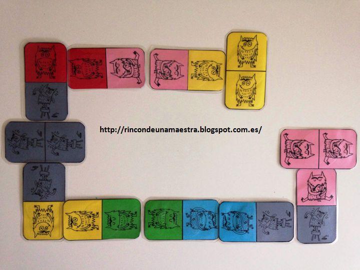 """Rincón de una maestra: El dominó de """"El monstruo de colores"""""""