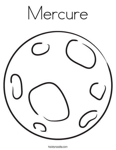 Mercure Coloring Page - Twisty Noodle