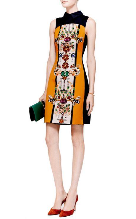 Gattaca Printed Sateen Dress by Mary Katrantzou - Moda Operandi
