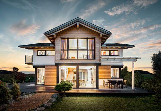 Griffner haus satteldach h user pinterest house for Case in legno griffner