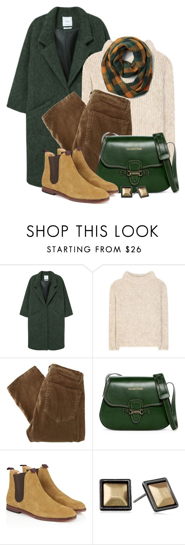 """""""Hudson Chelsea Boots & Valentino Bag"""" by brendariley-1 ❤ liked on Polyvore featuring MANGO, Tom Ford, J Brand, Mario Valentino, Hudson and Kenneth Cole"""