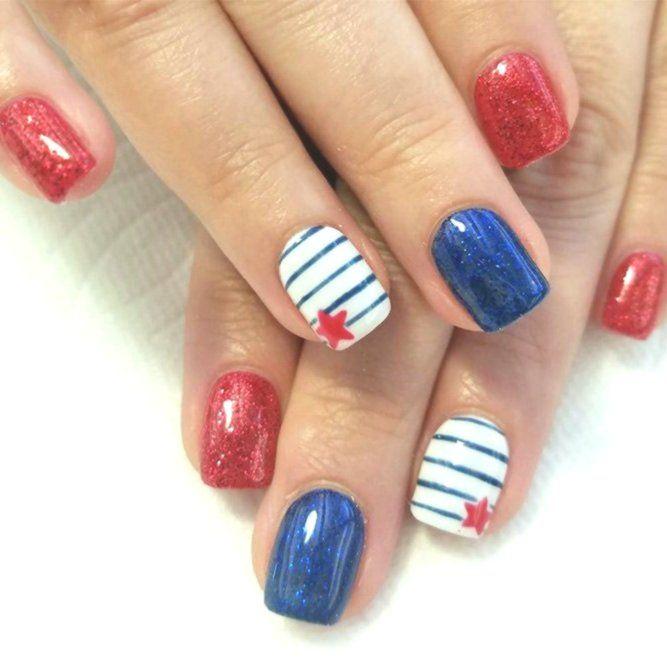 30 Divertidos Desenhos De Unhas Faceis Para Celebrar O Dia Do Trabalho Unasfaciles Unasfaciles2019 Simple Nails Simple Nail Designs Flower Toe Nails
