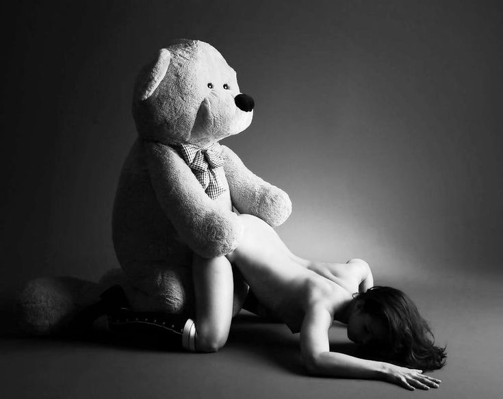 All Women having sex with a teddy bear right!