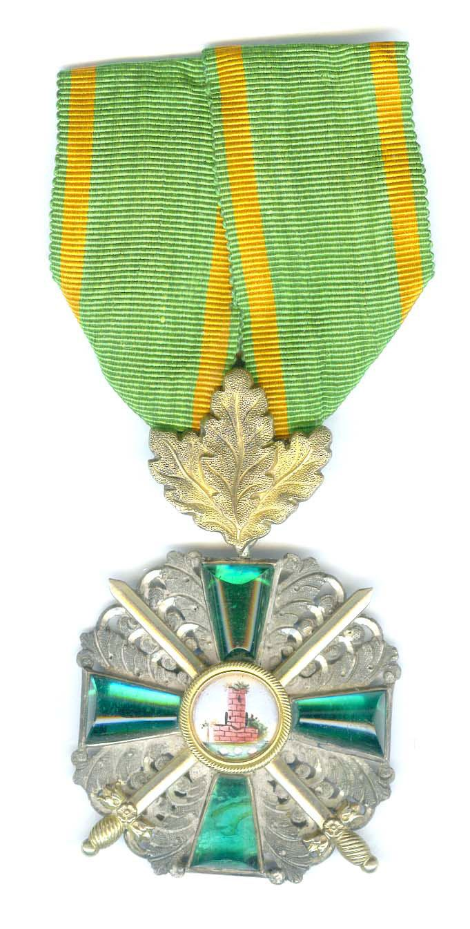 order medal decoration Order of the Zahringen Lion Knight with with golden oak leaves - Germany