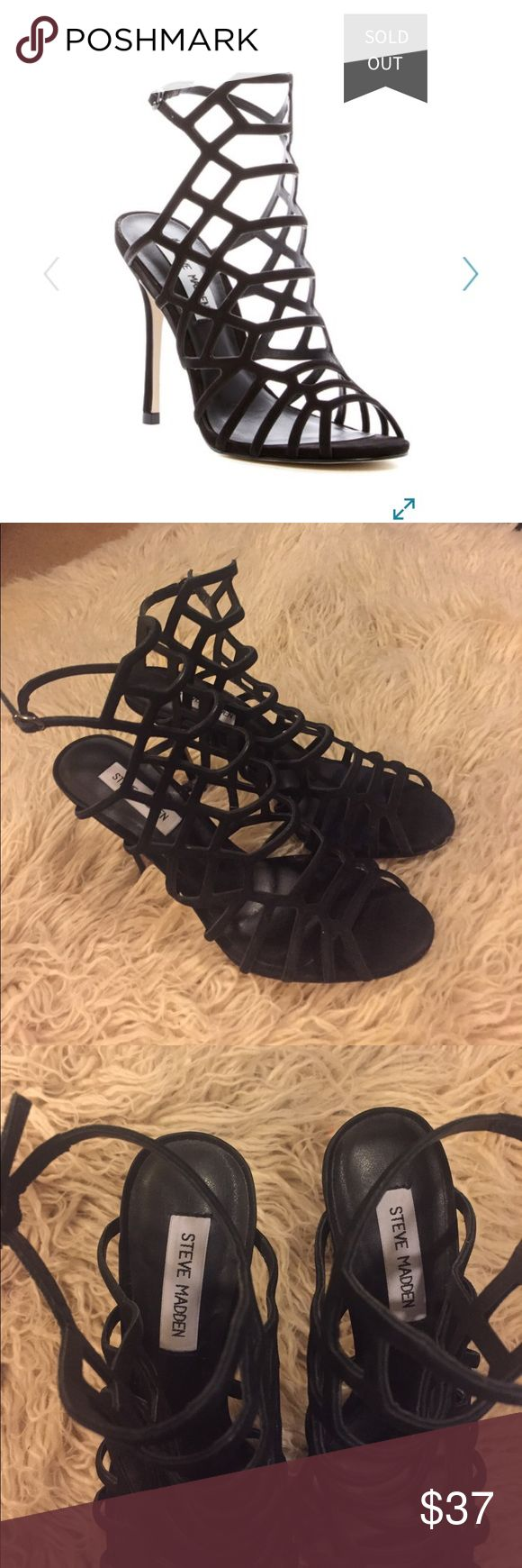 Black Steve Madden Heels Black Steve Madden heels, only worn a couple of times, open to offers, sold out on my many websites and stores Steve Madden Shoes Heels