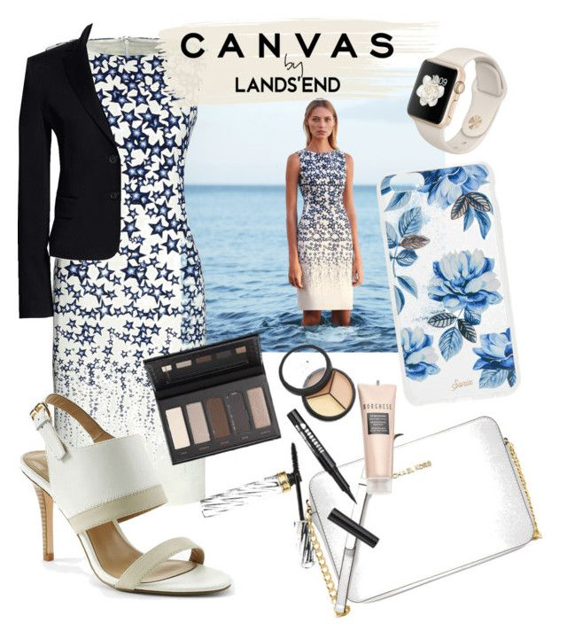 Paint Your Look With Canvas by Lands' End: Contest Entry by natalka-safranekova on Polyvore featuring polyvore fashion style Canvas by Lands' End Lands' End Michael Kors Sonix Borghese clothing