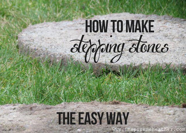 DIY stepping stone tutorial