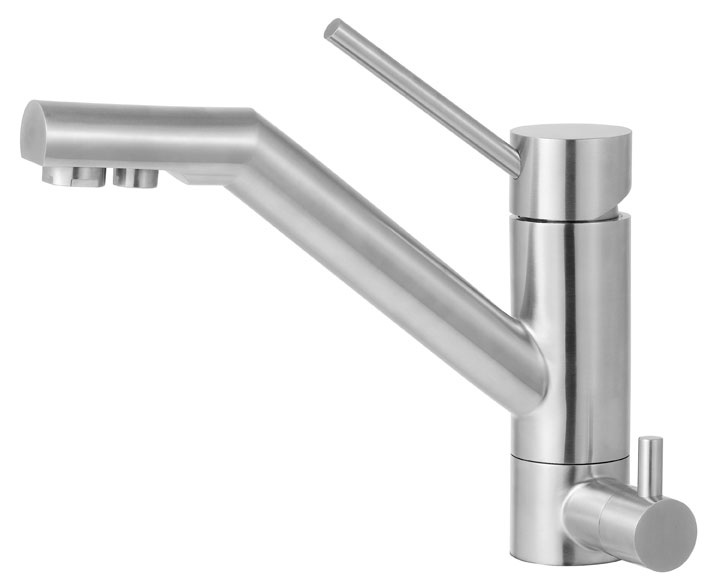This Faucet Has A Built In Drinking Water Dispenser! Alfi Solid Stainless  Steel Kitchen Faucet With Built In Water Dispenser