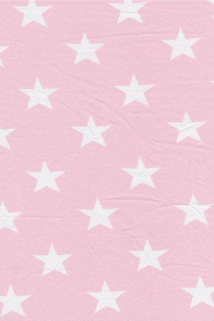 Øko-bomuld/lycra m/stjerner babylyserød/hvid