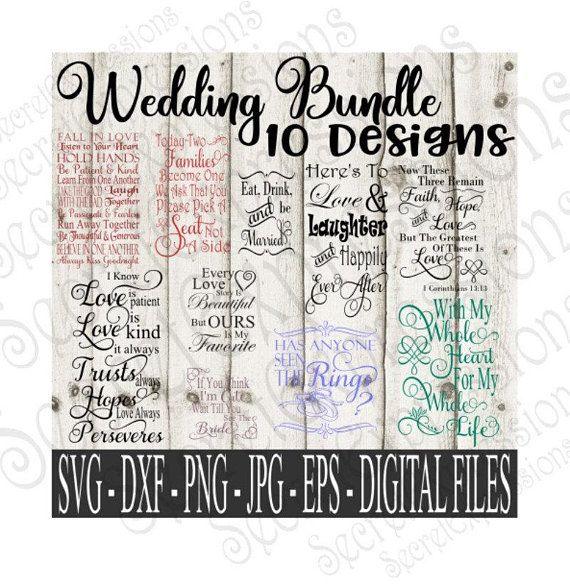 Dxf Eps Png Wedding Bundle Svg Digital Cutting File Jpg Silhouette Love Romance Cricut Print File Art Collectibles Clip Art