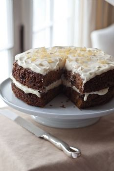 Barefoot Contessa - Recipes - Carrot Cake with Ginger Mascarpone Frosting