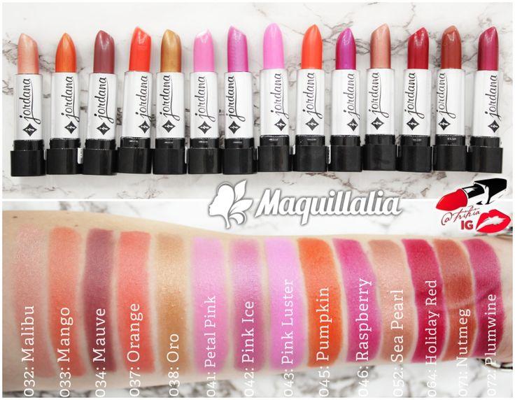 Jordana Lipsticks swatches (silver packaging) part2