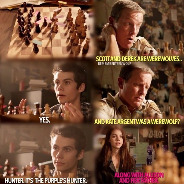 "Teen Wolf Season 3 Episode 9 ""The Girl Who Knew To Much"" Stiles Stilinski , Sheriff Stilinski and Cora Hale"