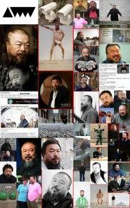 collage di foto di Ai Weiwei