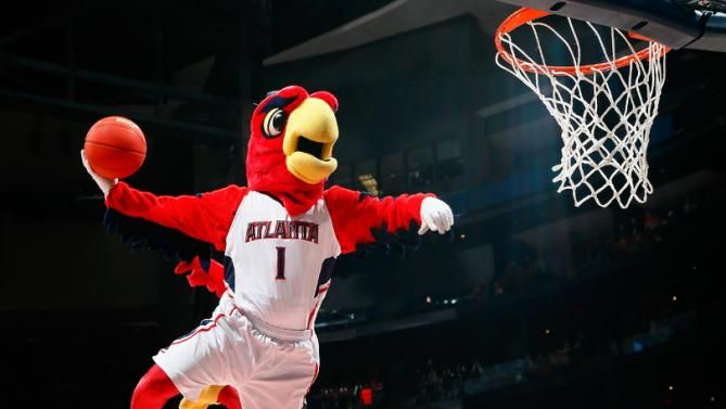 What is the name of the #Hawks mascot? From #1 #NBA Quiz App www.nbabasketballquizgame.com