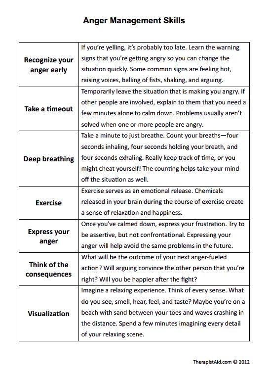 Image result for counseling worksheet anger   Anger ...