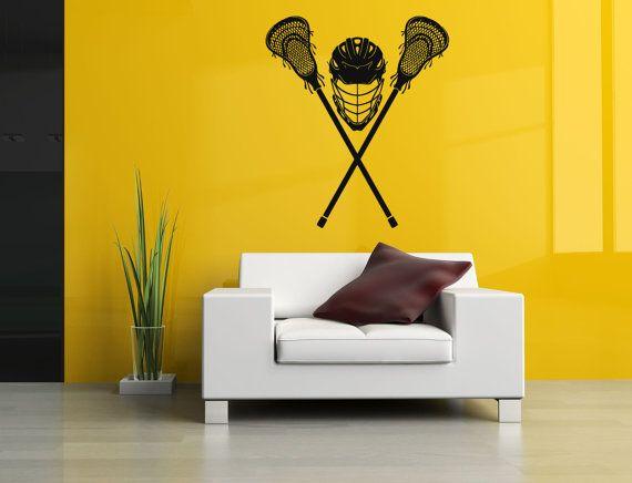 30 best Removable Vinyl Sticker Mural Decal Wall Art Decor Lacrosse ...