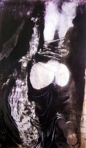 Figure Climbing a Stair (Postać wchodząca po schodach), 1967 technika mieszana, papier; 98x58,5 cm  #salvadordali #salvadordalipolska