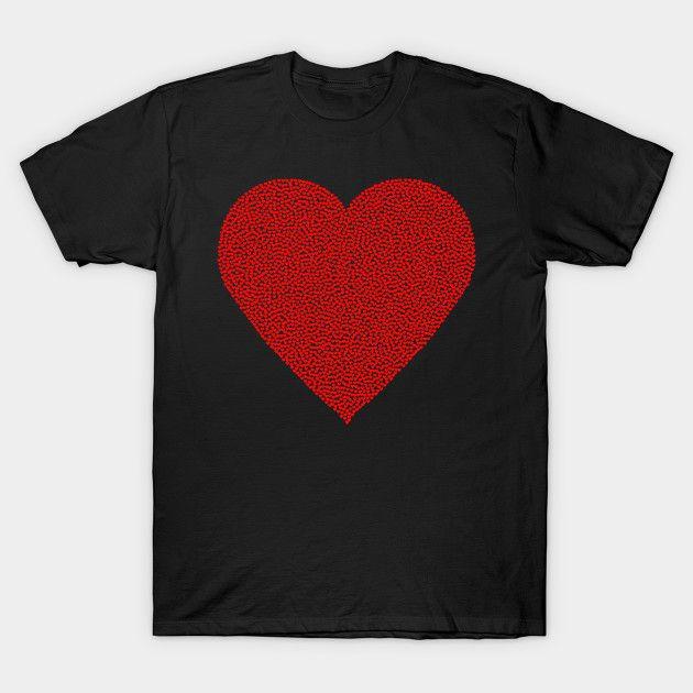 Heart Stippled Heart shirt  #Teepublic #shirts #tshirts #heart #love #stippling #graphic #valentinesday #redheart
