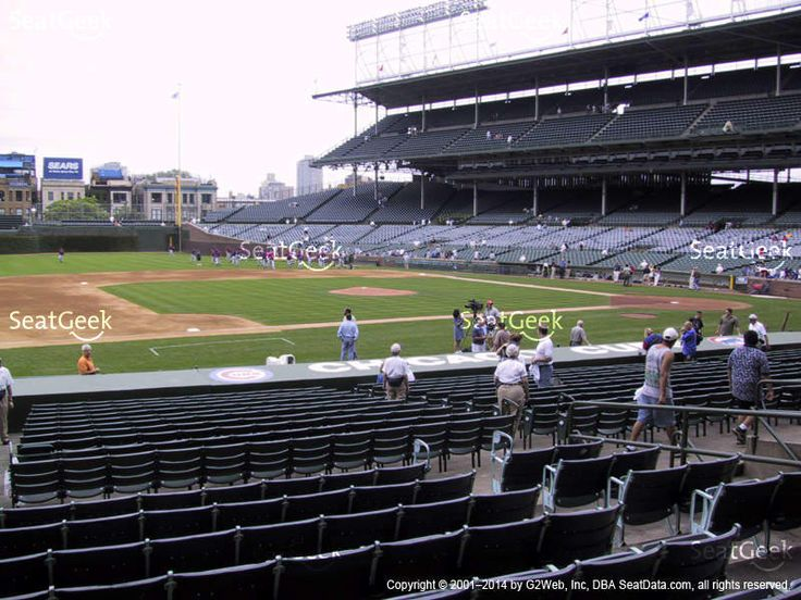 Chicago Cubs at Wrigley Field Field Box Infield 112 View