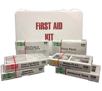 Kits and Bags: Aimsfirstaid Kit For 16 Persons - School Bus, Restaurant, Auto, Office, Home BUY IT NOW ONLY: $30.35