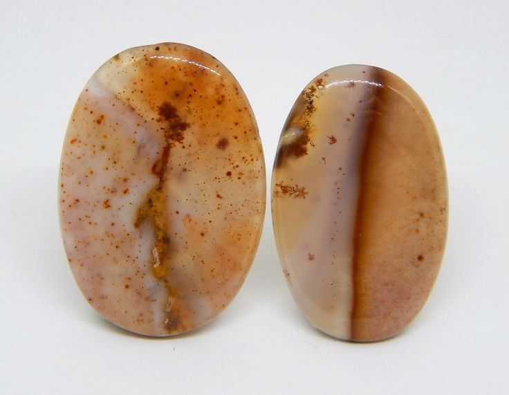 Agata dendritica coppia. Set per gioielli di agata dendritica. set di cabochon per anello e collana. Cabochon ring. Small cabochon. di HELGASHOP su Etsy