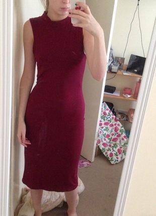 Buy here at #vinteduk http://www.vinted.co.uk/womens-clothing/midi-dresses/4408777-burgundy-midi-dress