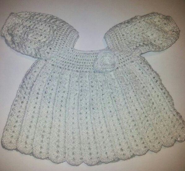 Vestido tejido a crochet  lana Blanca lurex Disponible  a la venta Facebook  Jenny tenidos
