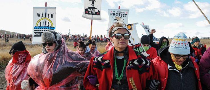 Freudentänze in North Dakota: Ingenieure der US-Armee haben den Bau der Ölpipeline durch ein Reservat nicht genehmigt. Sioux-Indianer sahen ihre Wasserversorgung bedroht.