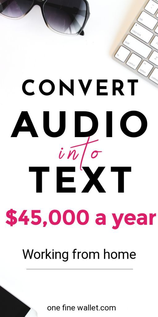 Make money online converting audio into text documents. This work at home job can make you upto $65,000/year. Learn how you can get started today #money #howtomakemoney #workfromhome #earnmoney #moneyfromhome