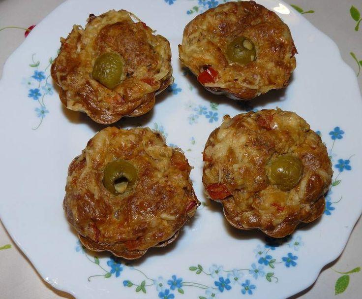 Recette Muffins façon pizza par Marco40 - recette de la catégorie Tartes et tourtes salées, pizzas