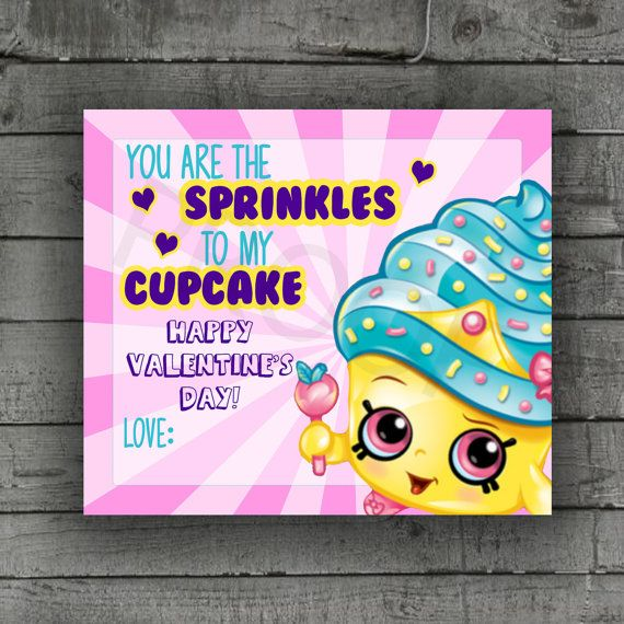 Shopkins Valentines Day Card School Party By