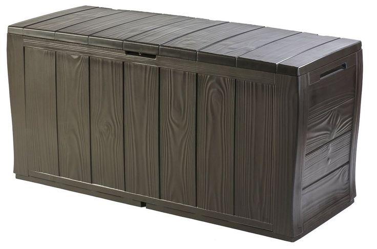 Plastic Storage Box Lidded Heavy Duty Patio Garden Weather Resistant Lockable