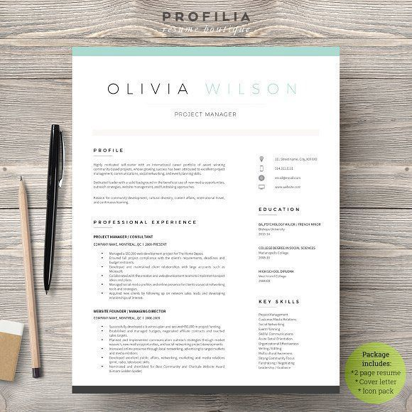 Word Resume & Cover Letter Template by Profilia Resume Boutique on @creativemarket Ready for Print Resume template examples creative design and great covers, perfect in modern and stylish corporate business. Modern, simple, clean, minimal and feminine layout inspiration to grab some ideas.
