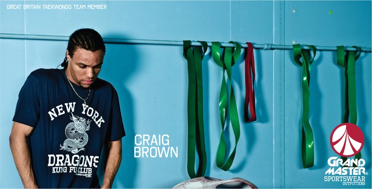 Craig Brown GB Taekwondo team member wearing grandmaster clothing