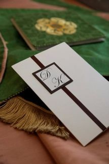 Wedding Order of Service complete with couples initials