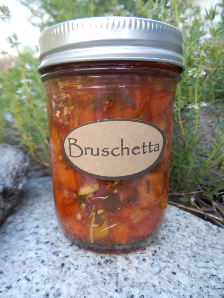 Bruschetta in a Jar, can your own brushetta (1) From: From The Garden Table, please visit
